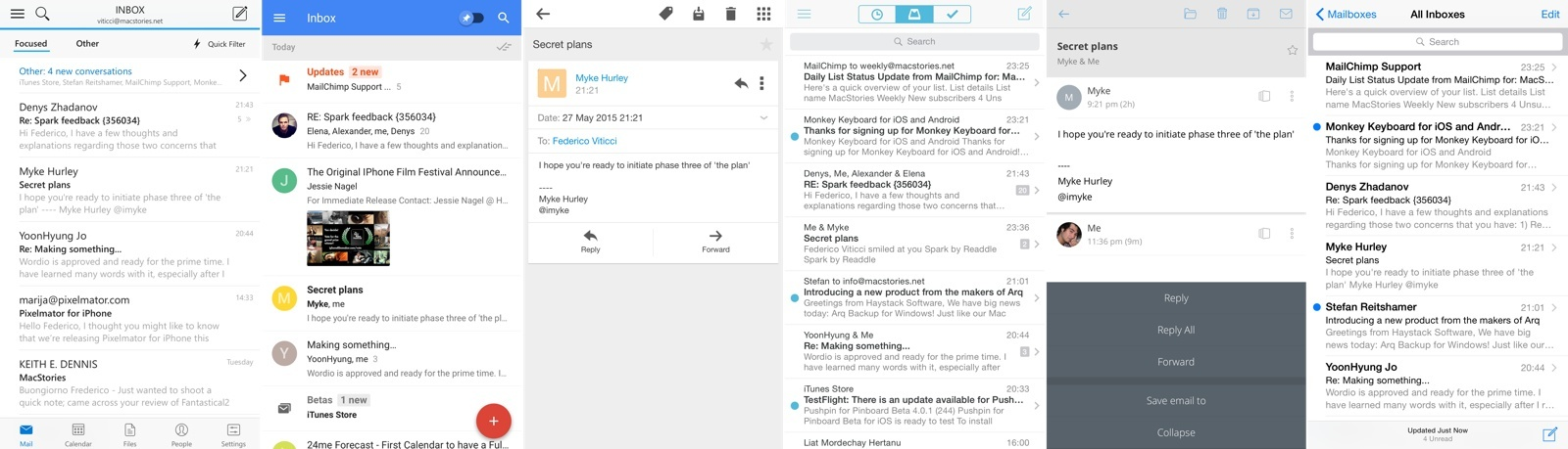 Modern email apps, and Apple Mail. (Open image in new tab for full size.)
