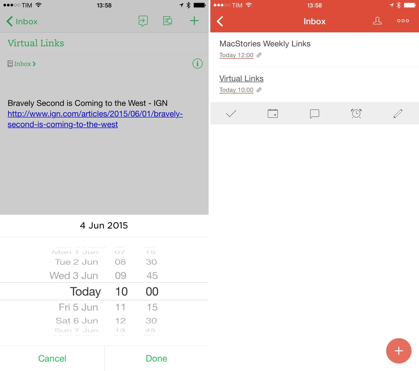 Evernote reminders as Todoist tasks thanks to PowerApp.