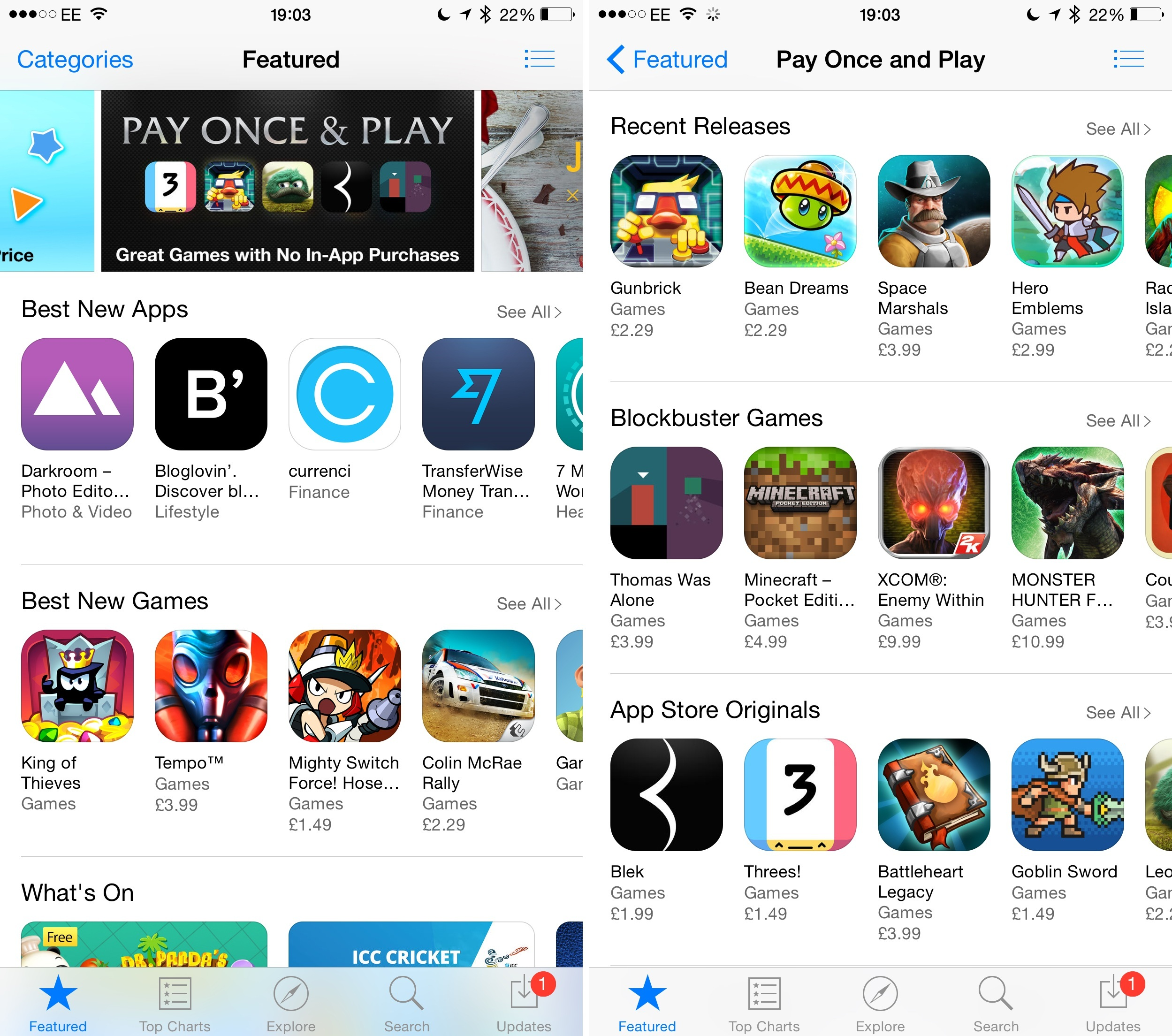 Download apps and games using the App Store