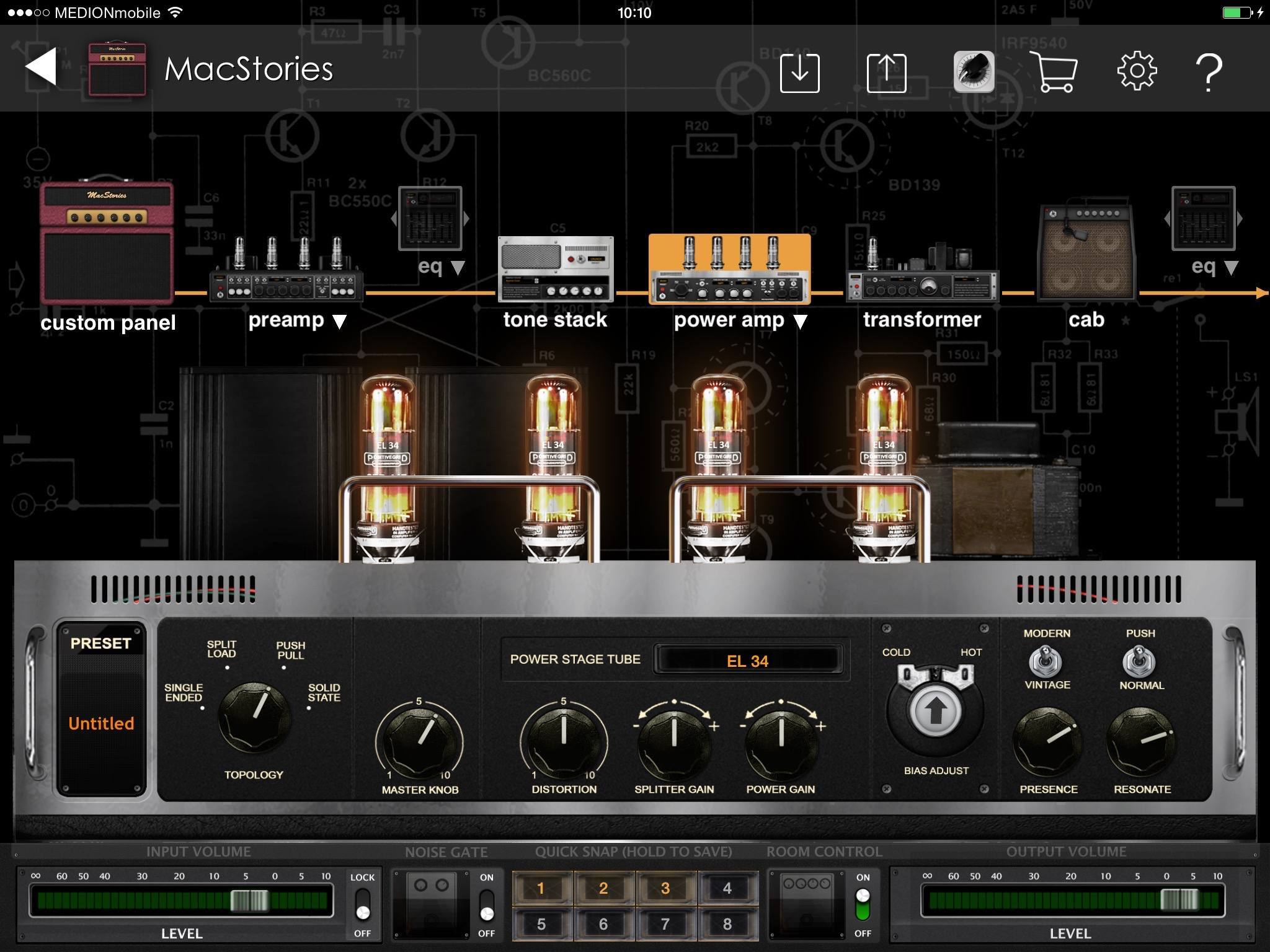 making music on ios guitar amps effects apps hardware macstories. Black Bedroom Furniture Sets. Home Design Ideas