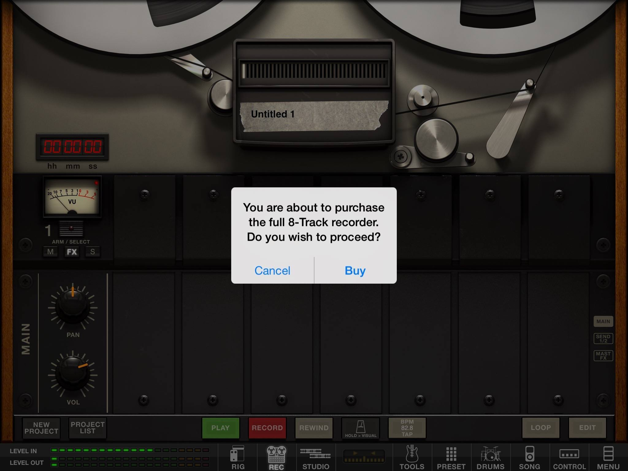 Amplitube, nickel and diming me once again.