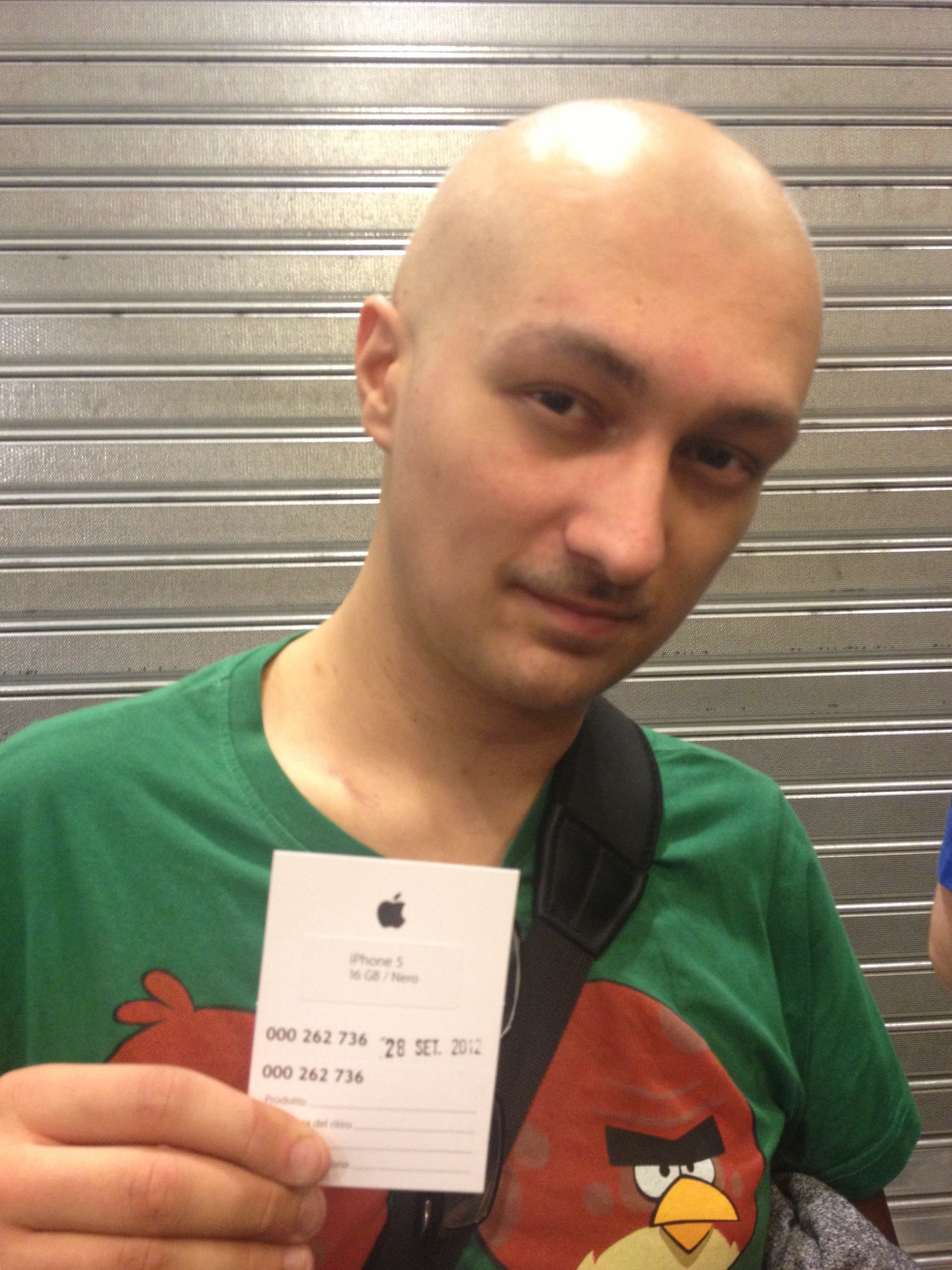 Thinner and weaker, but still stubborn enough to wait in line for an iPhone launch.